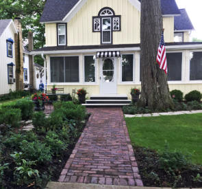 Delavan Lake Home Entrance Walk Brick Pavers