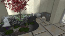 3D Rendering of water feature