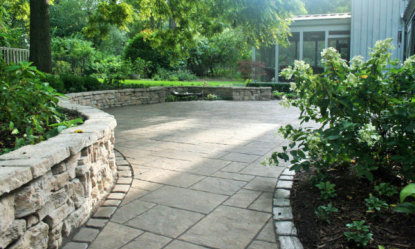 Patio and Seatwall - Landscape Design & Construction in Richmond IL