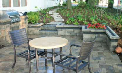 Patio and Seatwall - Landscape Design & Construction in Delavan