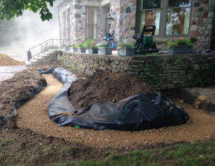 Building a Lannon Stone Retaining Wall in Lake Geneva, WI