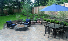 Patio and Firepit - Landscape Design & Construction in Twin Lakes, WI